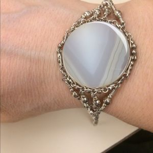 925 and agate bracelet fit 7